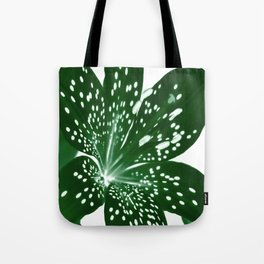 Lily Infrared In Green Tote Bag