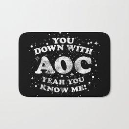 Alexandria Ocasio Cortez Supporter Gift AOC Rap / Hip Hop Design Bath Mat
