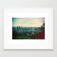 montreal Framed Art Prints featuring Montreal  by The voyageuse