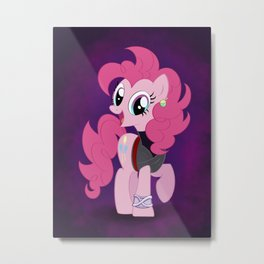 Super Saiyan Pinkie Pie Metal Print