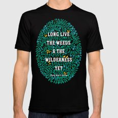 Weeds and Wilderness MEDIUM Mens Fitted Tee Black