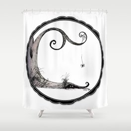 'Think I'll just stay in today' - Familiar and Friend Shower Curtain