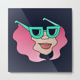 Amazonite & Rose Quartz Metal Print