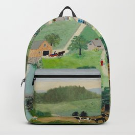Anna Mary Robertson 'Grandma' Moses The Old Oaken Bucket American Folk Art Backpack