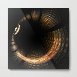 Fractal Solar Eclipse Metal Print