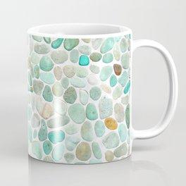 Mint Sea Stones Coffee Mug