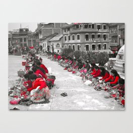 The Ladies of Nepal Canvas Print
