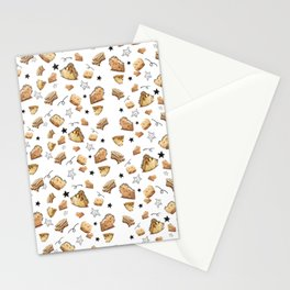 Cheese and words Stationery Cards