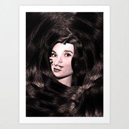 Audrey Hepburn Abstract Art Print
