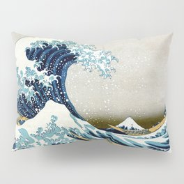 The great wave, famous Japanese artwork Pillow Sham