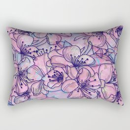 Over and Over Flowers 2 Rectangular Pillow
