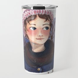 Jane Austen portrait Travel Mug