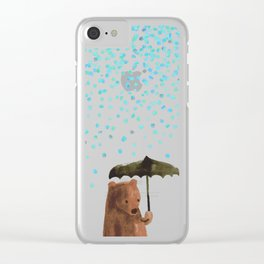 Rain rain go away Clear iPhone Case