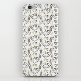 Natural Olive Leaf Berry Birds on Branch iPhone Skin