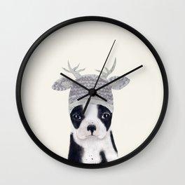 little boston ohh deer Wall Clock