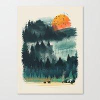 camp Canvas Prints featuring Wilderness Camp by dan elijah g. fajardo