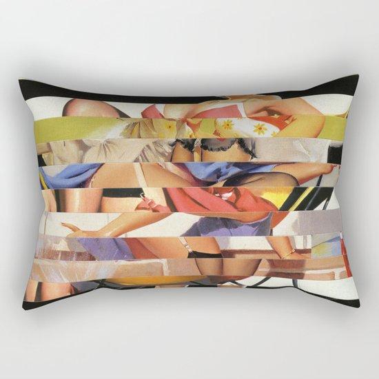 Glitch Pin-Up Redux: Gwen Rectangular Pillow