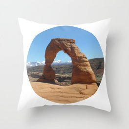 Moab Arches National Park Throw Pillow