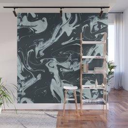 Ruin - Dark Suminagashi Marble Series: 02 Wall Mural