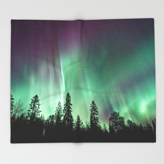 Colorful Northern Lights, Aurora Borealis by staypositivedesign