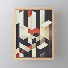 915 // Fallen Heights // Geometric Pattern Framed Mini Art Print