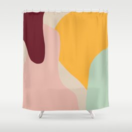 Ziz Abstract Painting Shower Curtain