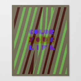 Color your life Canvas Print