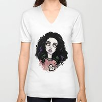 charli xcx V-neck T-shirts featuring Nuclear Lover -Charli XCX by Julio César