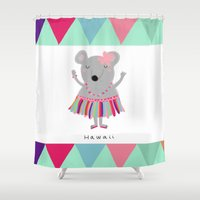 hawaii Shower Curtains featuring hawaii by Sucoco