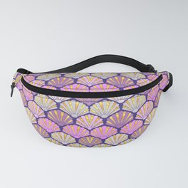 Seashell pink and lilac for mermaids Fanny Pack