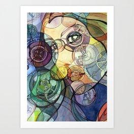 Gearface Art Print