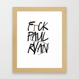 F(IUD)ck Paul Ryan Framed Art Print
