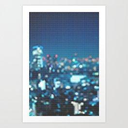 city dots Art Print