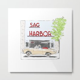 Sag Harbor Movie Theater Metal Print