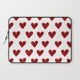 Heart love valentines day gifts hearts with faces cute valentine Laptop Sleeve