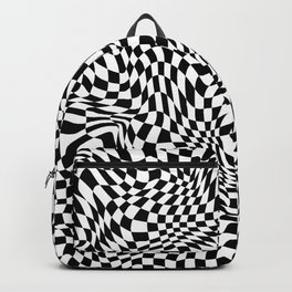 TIME MOVES SLOWLY (warped geometric pattern) Backpack