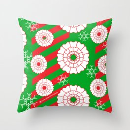 Pearly and White Dentist Holiday Mug Throw Pillow