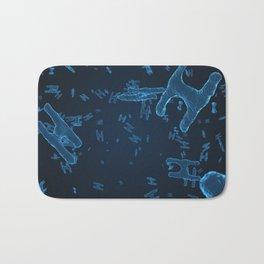 Abstract blue virus cells Bath Mat