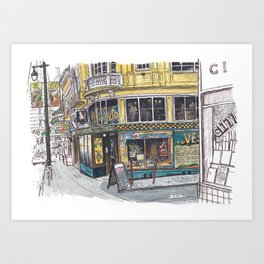 Vesuvio, San Francisco Art Print