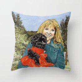 Sherry & Du Throw Pillow