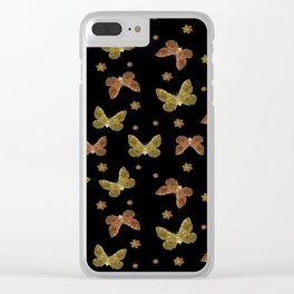 Insects Motif Pattern Clear iPhone Case