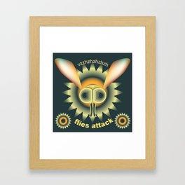 """Illustration poster """"Flies attack"""" Framed Art Print"""
