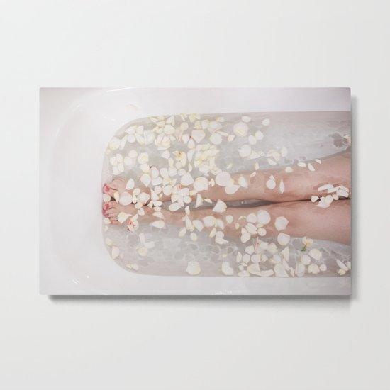 Floral bath Metal Print