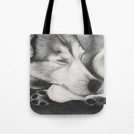 Sleeping Wolf Tote Bag