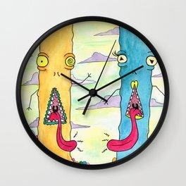Alien Couple Wall Clock