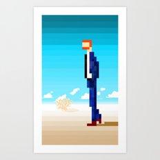Suit in the Desert Art Print