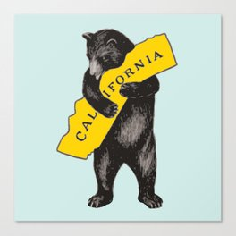 Vintage California Bear Canvas Print