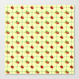 STRAWBERRY PLAID Canvas Print