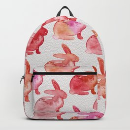 Watercolor Bunnies 1F by Kathy Morton Stanion Backpack