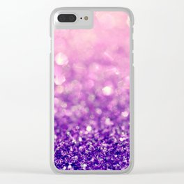 Fizzy Grape Clear iPhone Case
